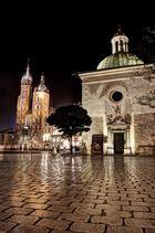 Rynek Glowny of the Old Town in Kraków at night