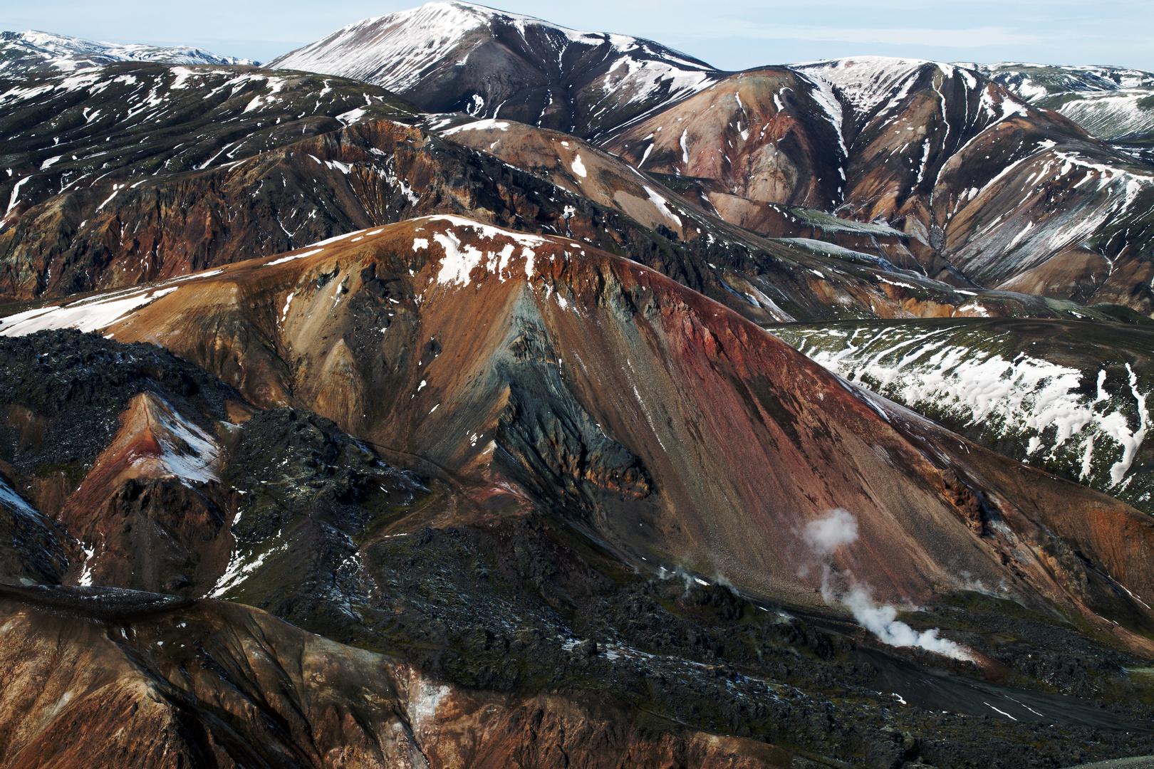 Ryolith- Berge in Landmannalaugar