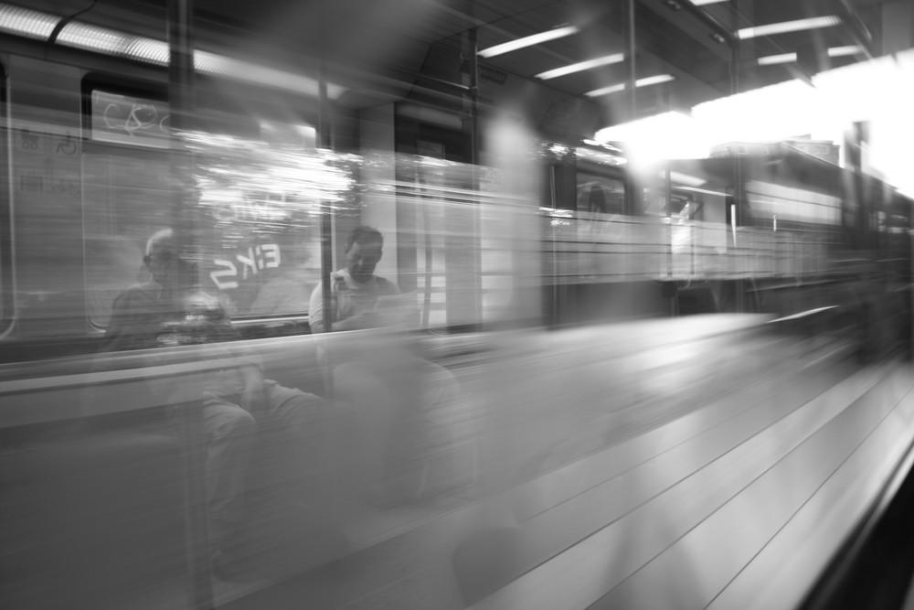 S-Bahn als Kunstobjekt