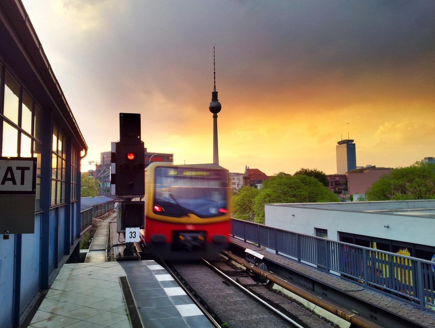 S Bahn in Hdr Berlin