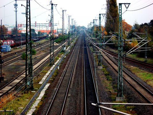 S-Bahnstrecke Richtung Hanau