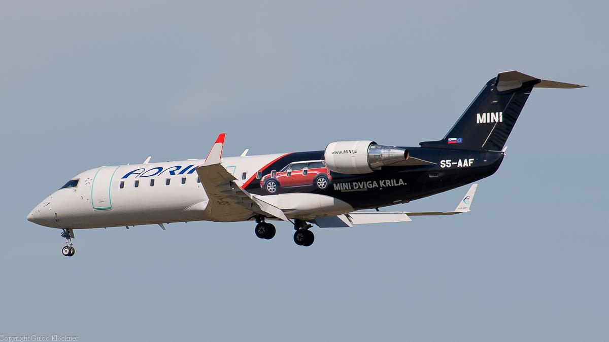 S5-AAF Adria Airways Canadair Regional Jet CRJ-200LR Mini c/s