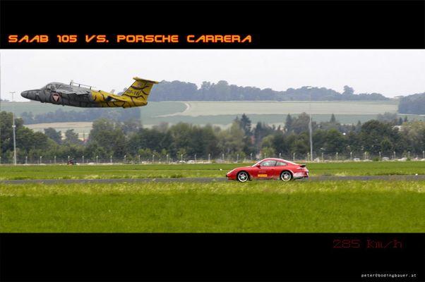 Saab 105 vs. Porsche Carrera