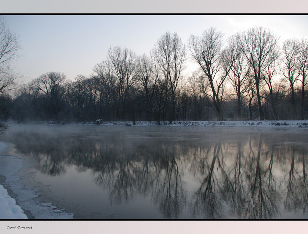 Saale im Winter