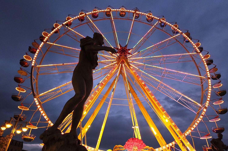 Saalenixe vom Göbelbrunnen, bitte Riesenrad nicht anfassen!