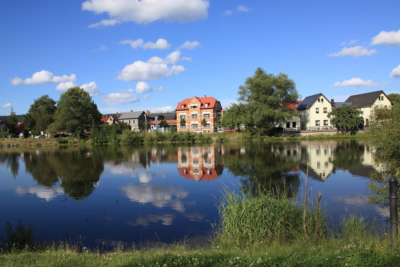 Saalfeld, Saale-Ufer