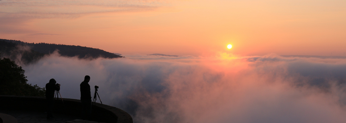 Saarschleife bei Sonnenaufgang