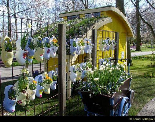 Sabots dans le Parc aux Tulipes de KEUKENHOF en Hollande