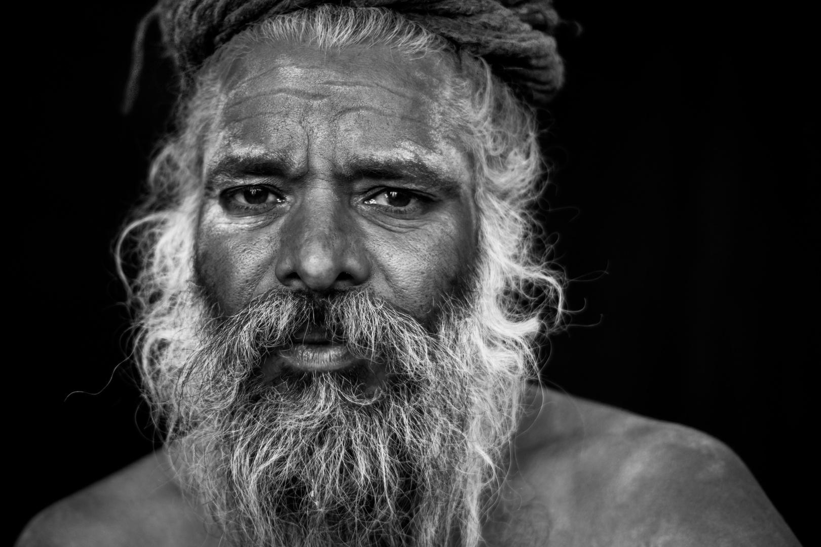 Saddhu auf der Kumbh Mela 2013