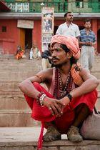 Sadhu am Desaswamedh Ghat in Varanasi