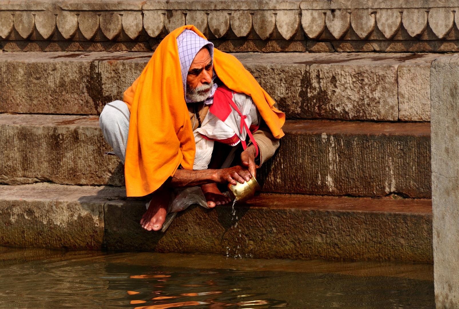 Sadhu am Ganges
