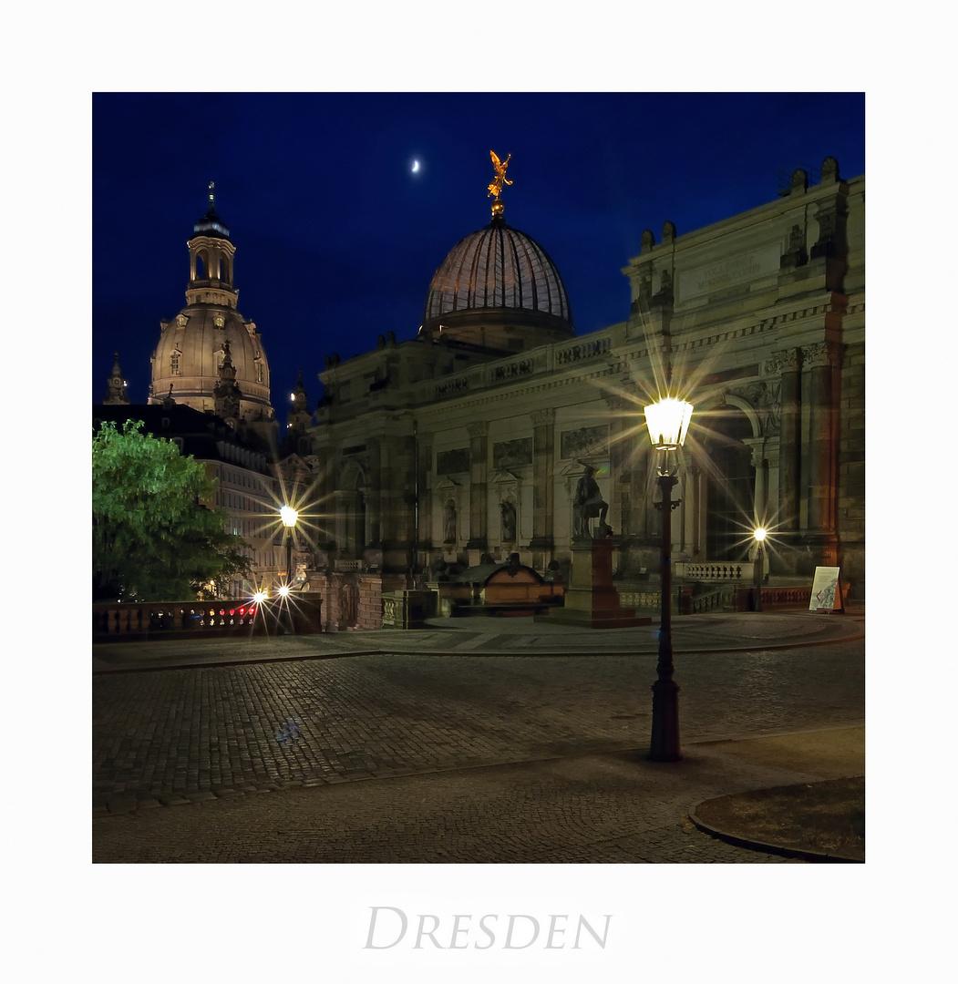 """Sächsische Impressionen """" Dresdner - Stadtansichten, bei Nacht***********.... """""""