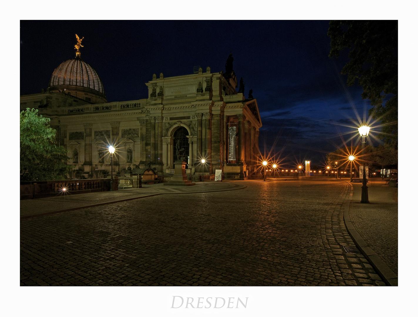 """Sächsische Impressionen """" Dresdner - Stadtansichten, bei Nacht*********.... """""""