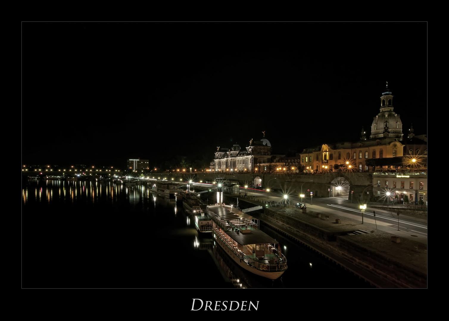 """Sächsische Impressionen """" Dresdner - Stadtansichten, bei Nacht********.... """""""