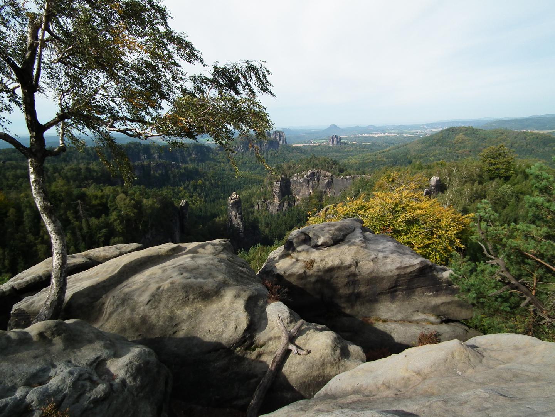 Sächsische Schweiz - Affensteine - Aussicht vom Carolafelsen