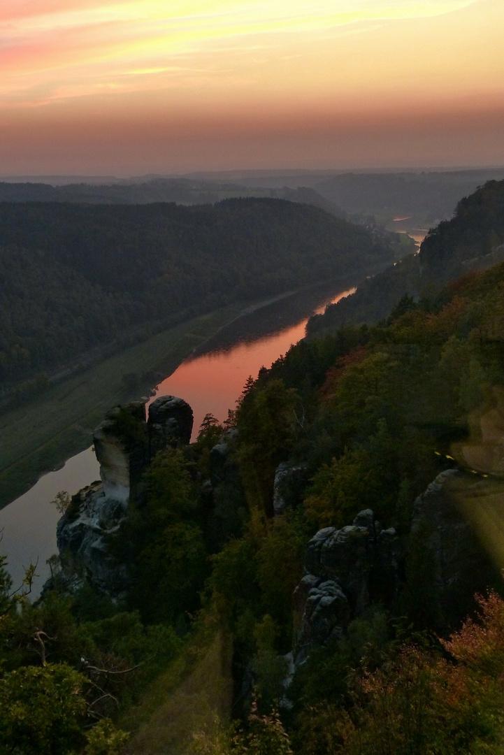 Sächsische Schweiz  -  Blick von der Bastei