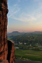 Sächsische Schweiz  -  Blick von der Basteibrücke