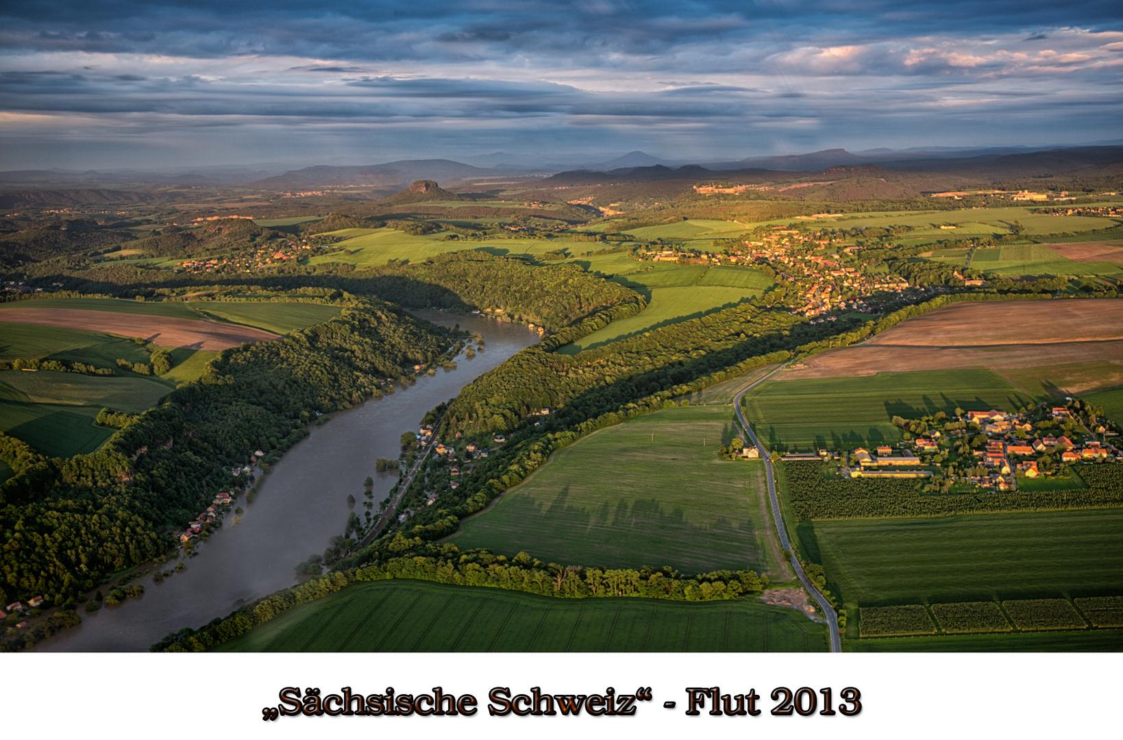 Sächsische Schweiz - Flut - Dresden - Juni 2013