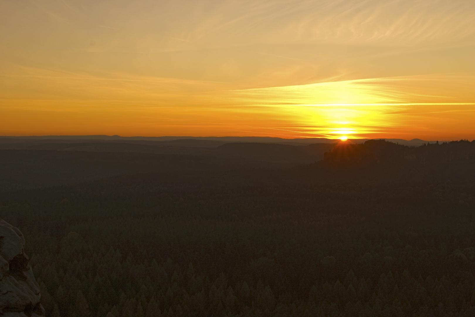 Sächsische Schweiz Sonnenuntergang