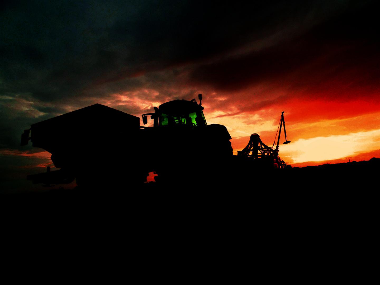 Sähen bis zum Sonnenuntergang