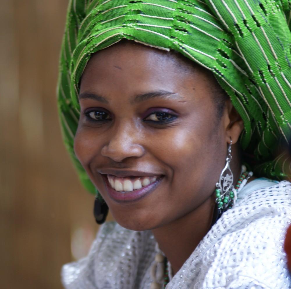 Afrikanische Sängerin