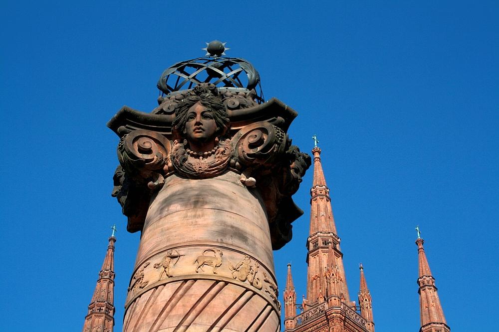 Säule vor der Marktkirche