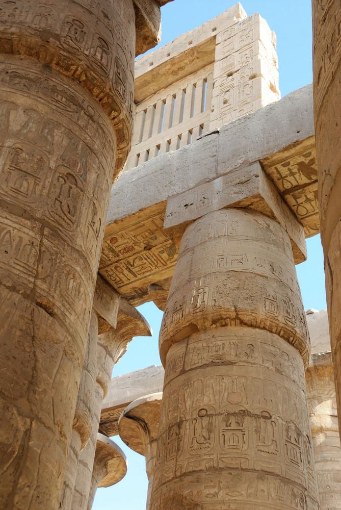 Säulen im Karnak-Tempel