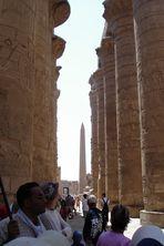 Säulen im Tempel von Karnak