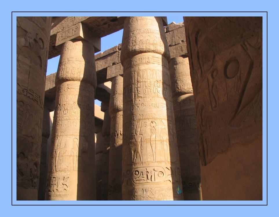 Säulen in Karnak Tempel