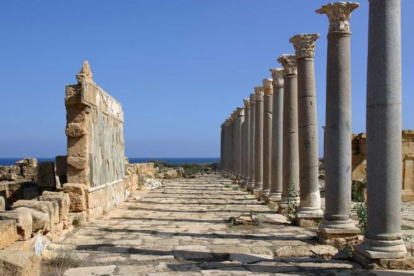Säulengang in Leptis Magna