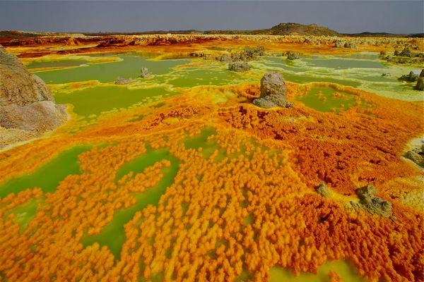 Säuresee in der Wüste Danakil
