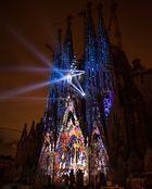 Sagrada Familia iluminada