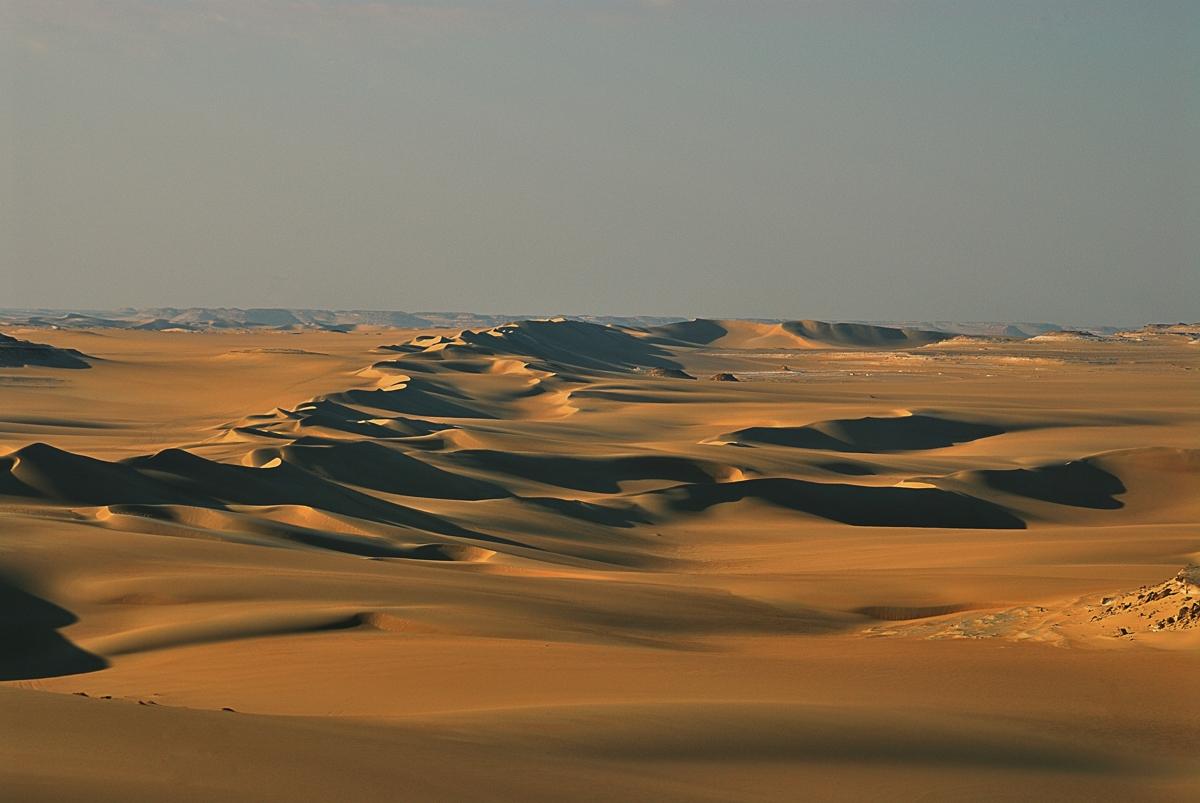 Sahara Sandmeer am Abend
