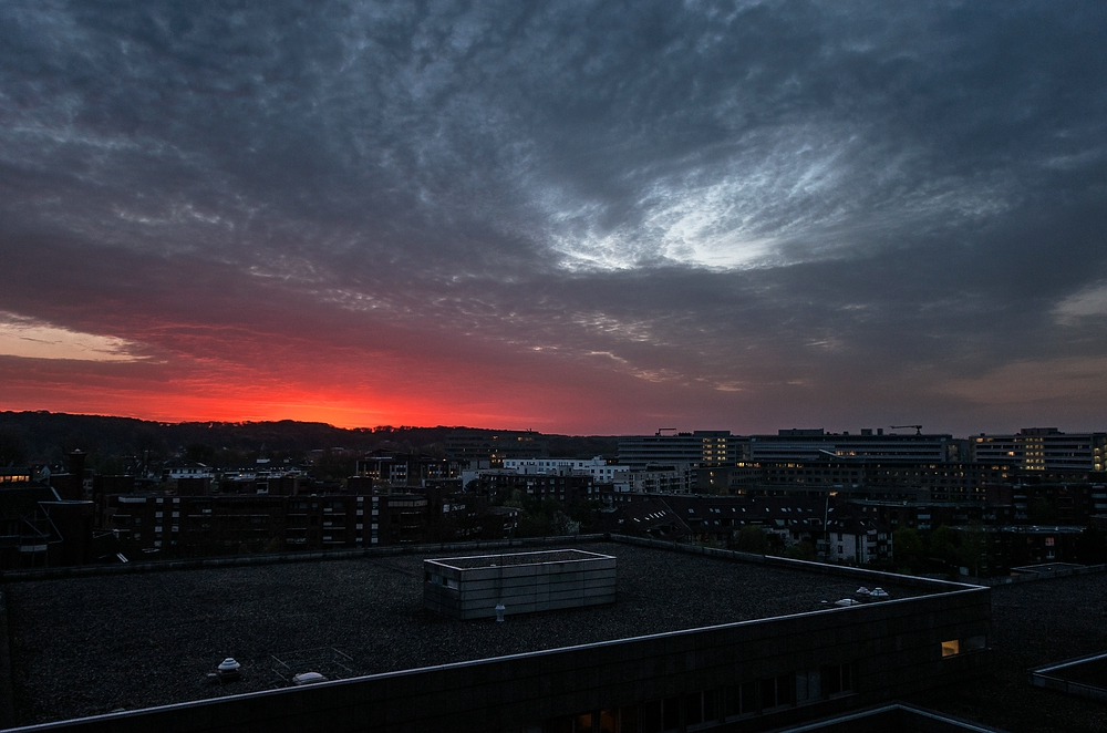 Saharastaub über Düsseldorf
