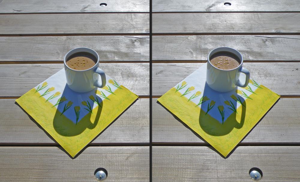 Sahne-Sonnen-Milchkaffe
