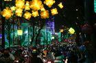 Saigon Abendverkehr