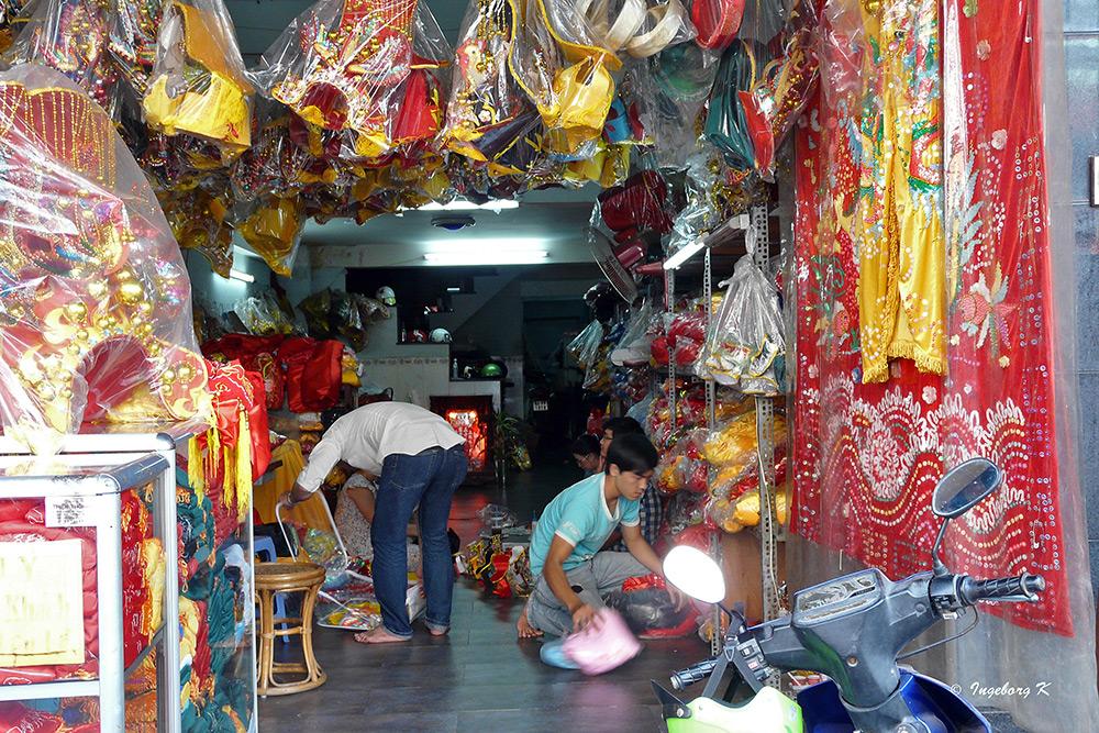 Saigon - ein Geschäft für Stoffe