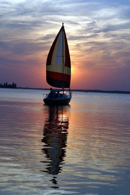 ...sailing away....in the middle of germany....