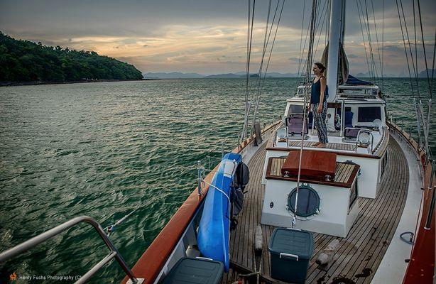 Sailing ...