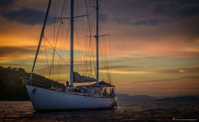 Sailing into ...