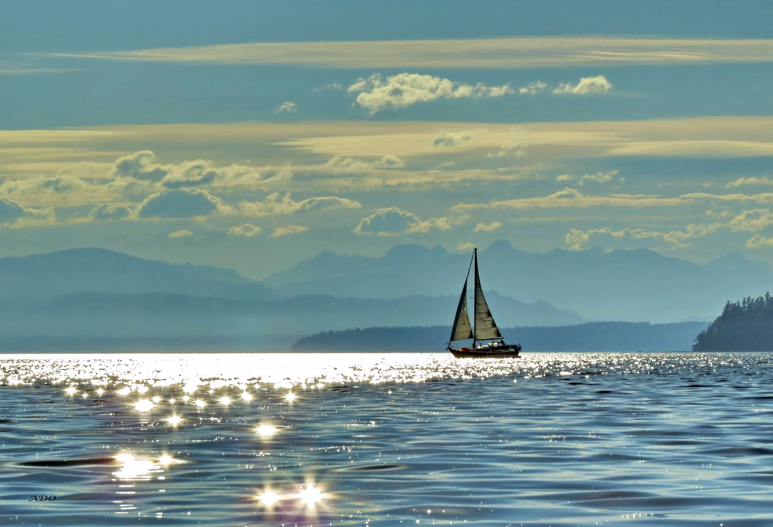 Sailing into the Evening
