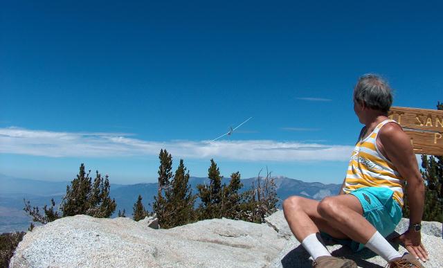 sailplane atop Mt San Jacinto