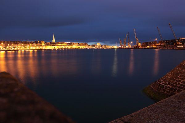 Saint-Malo by night