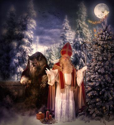 Saint Nicholas und Krampus