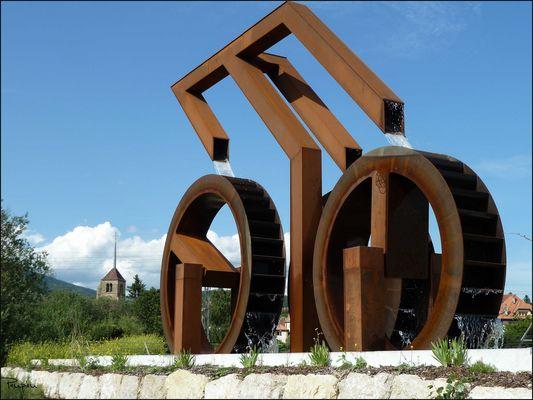 Sainte-Blaise. Fontaine du millénaire de Mario Botta
