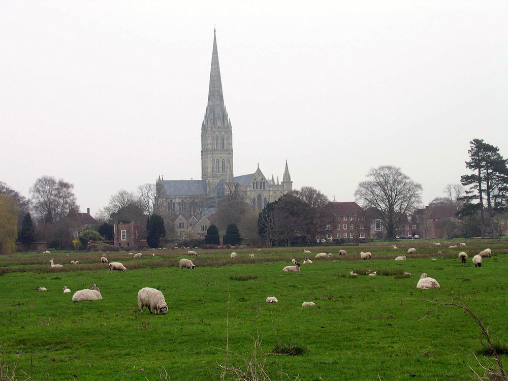 Salisbury Cathedral on a Sunday morning