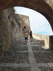 Salita al castello Ruffo...scorcio