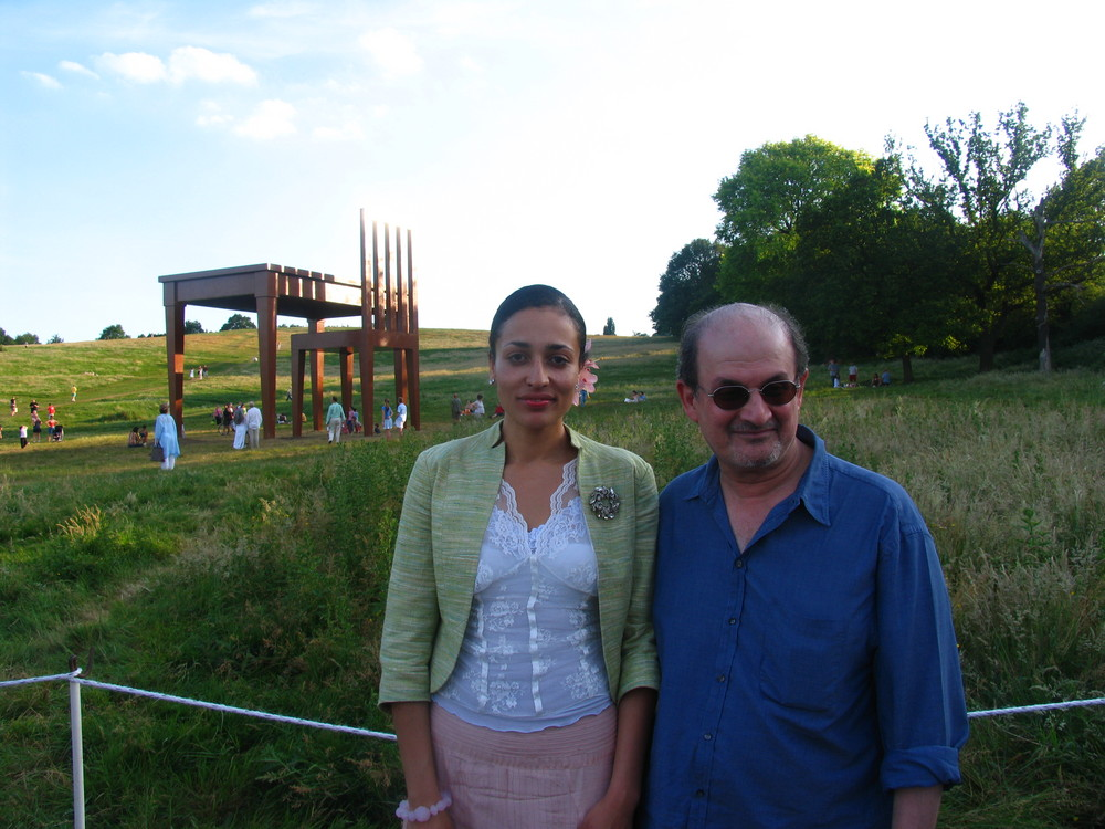 Salman Rushdie and Sadie Smith