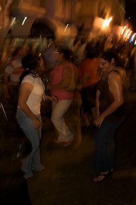 Salsa in den Straßen von Merida