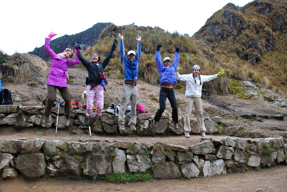 Saltando en los Andes